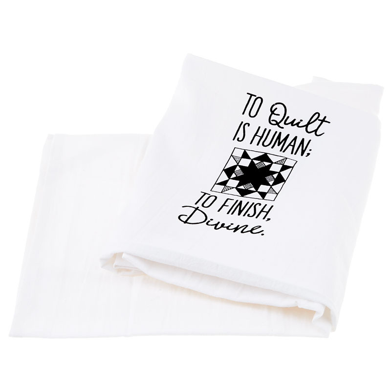 Screen Printed Towel - To Quilt is Human