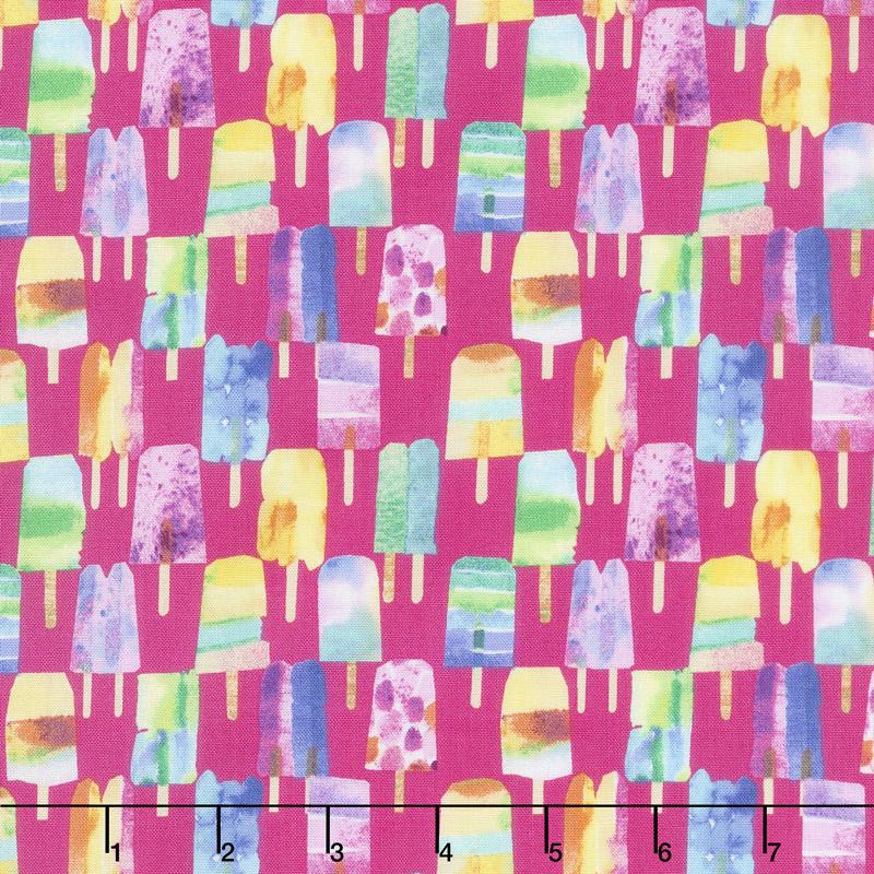 Sweet Treats - Popsicle Raspberry Yardage