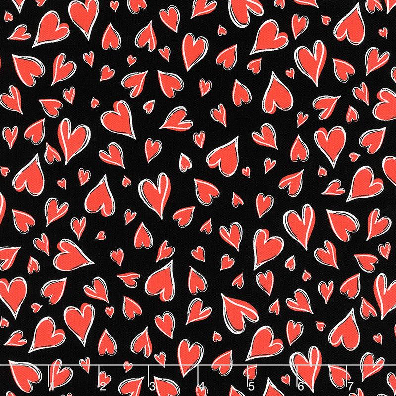 Novelty - Parisian Hearts Black
