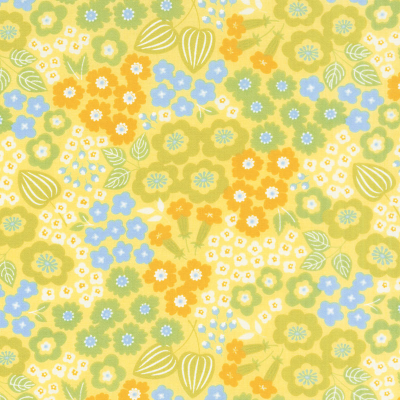Lazy Days - Floral Lemon Yardage