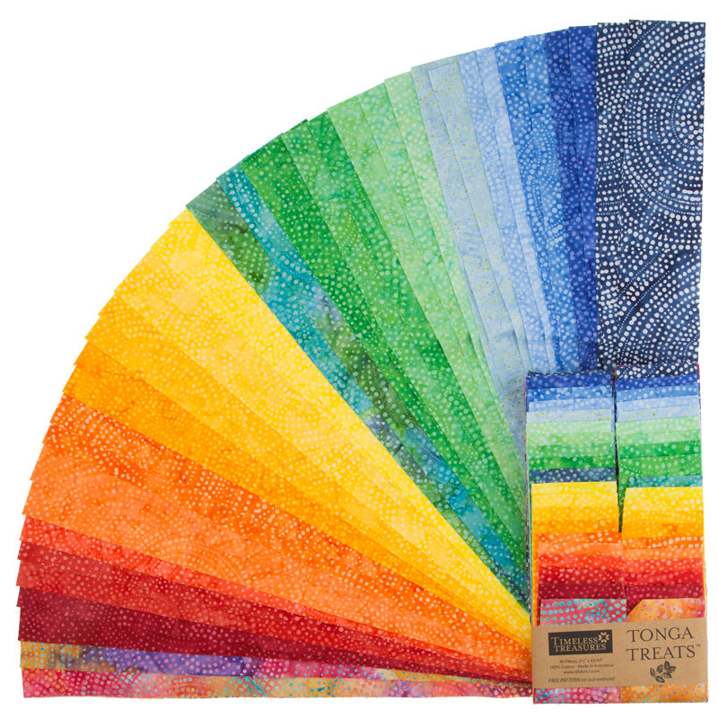 Tonga Treats Batiks - Colorwheel Rainbow 2.5