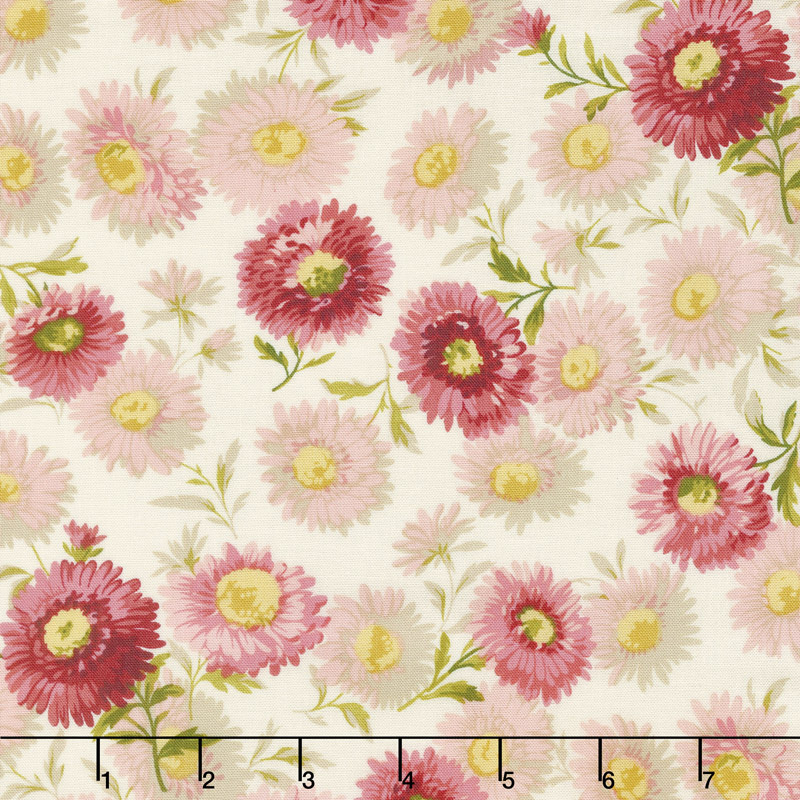 Sequoia - Daisies Touch of Pink Yardage