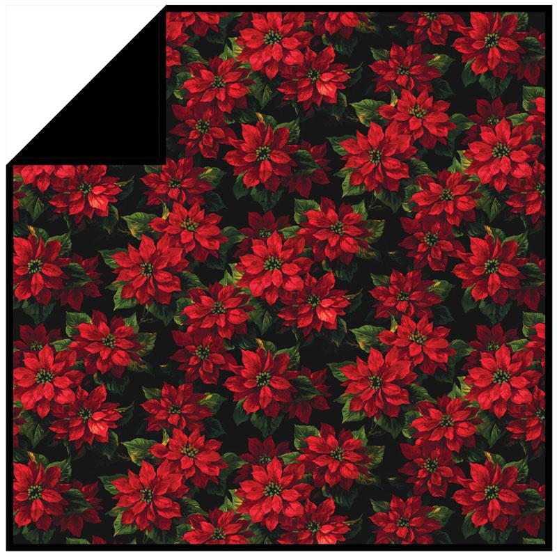 Scarlet Poinsettia Minky Kit
