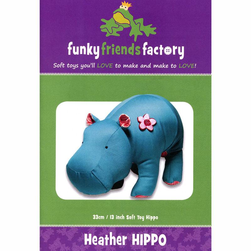 Heather Hippo Funky Friends Factory Pattern
