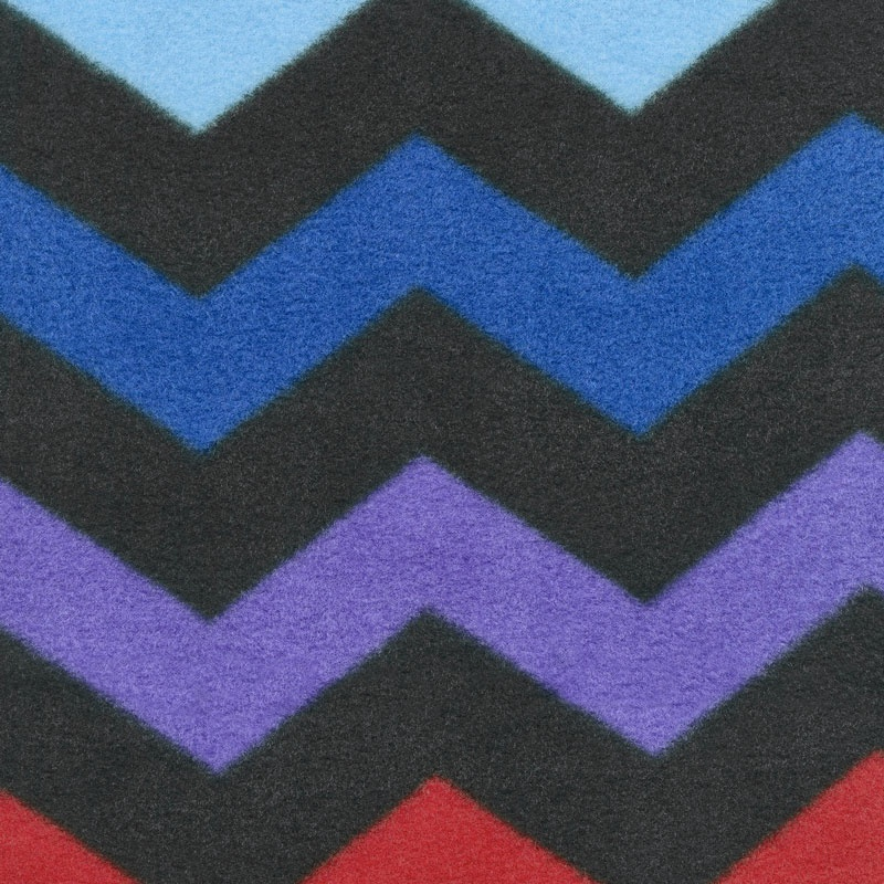 Winterfleece Prints Conversational - Chevron Black Fleece Yardage