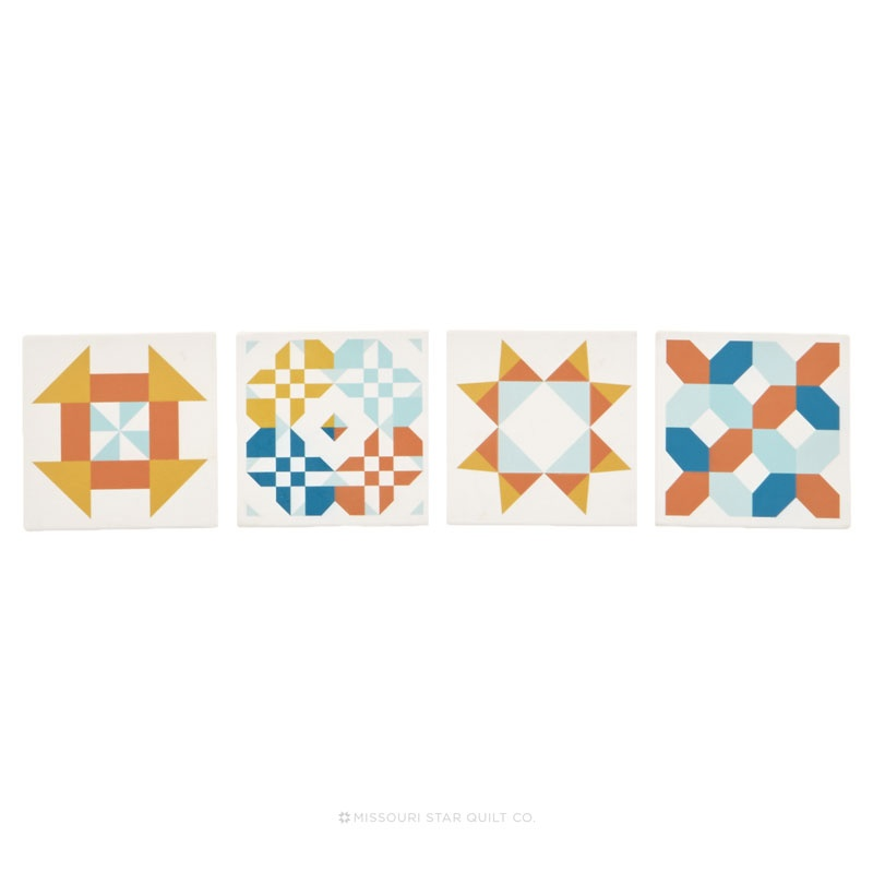 Missouri Star Patchwork Design Coaster Set