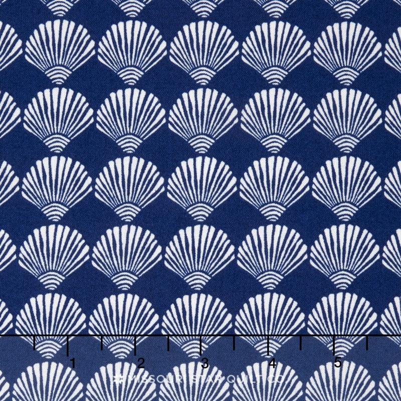 Tide Pool - Scallop Shells Royal Yardage
