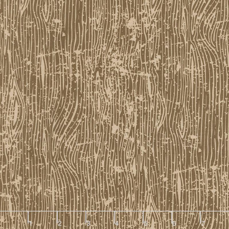 Lumberjack Aaron - Woodgrain Brown Yardage
