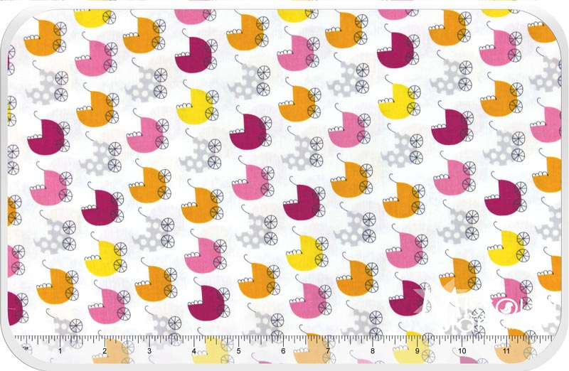 Precious - Baby Carriage Pink Yardage