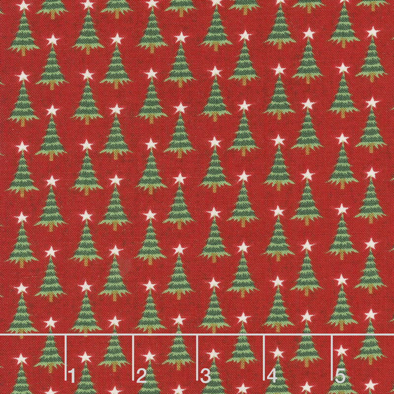Kringle and Claus - Pine Valley Berry Yardage