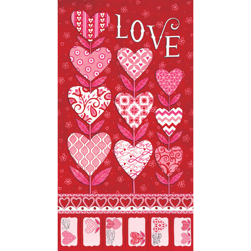 Love Grows - Grow Love Romantic Red Panel