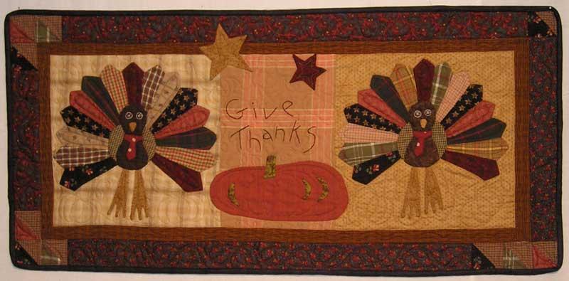 Dresden Turkey Mini Quilt Wall Hanging Pattern Jan Patek Quilts