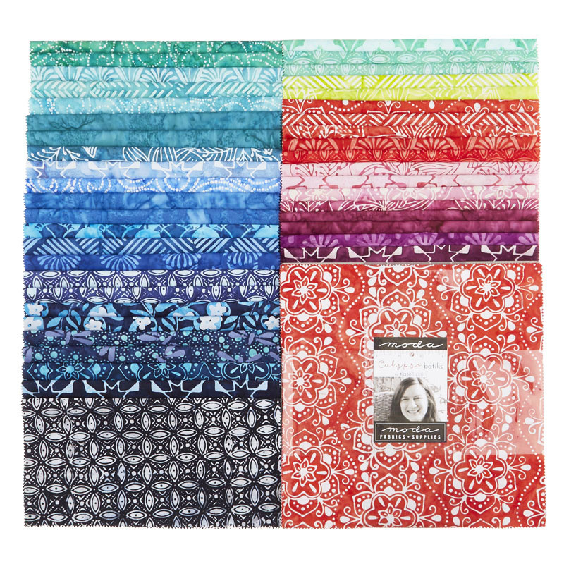 Paradise with Bandana Flowers Calypso Batiks Sold by the Yard and Cut Continuous Ships Today! by Kate Spain for Moda Fabrics