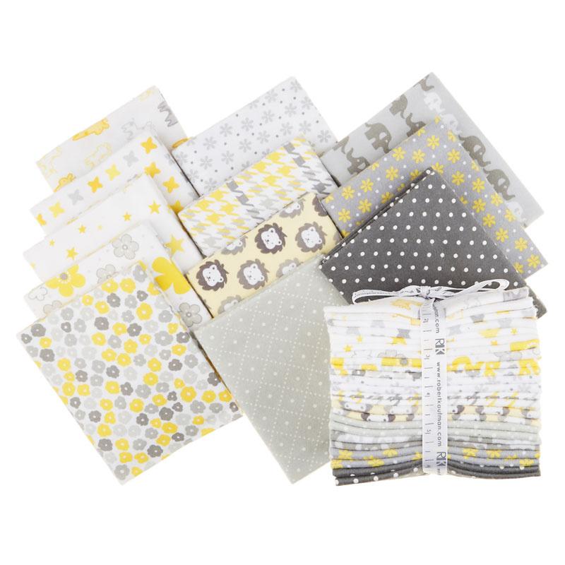 Cozy Cotton Flannels - Yellow Fat Quarter Bundle
