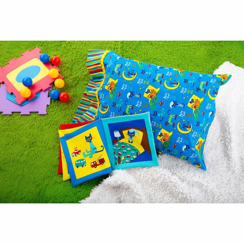 Pete the Cat Fabric Book and Missouri Star Pillowcase Kit