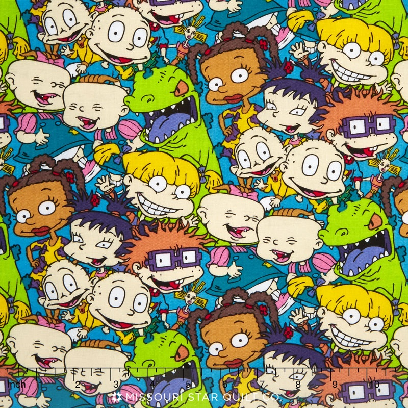 Nickelodeon 90s Rugrats Packed Characters Yardage