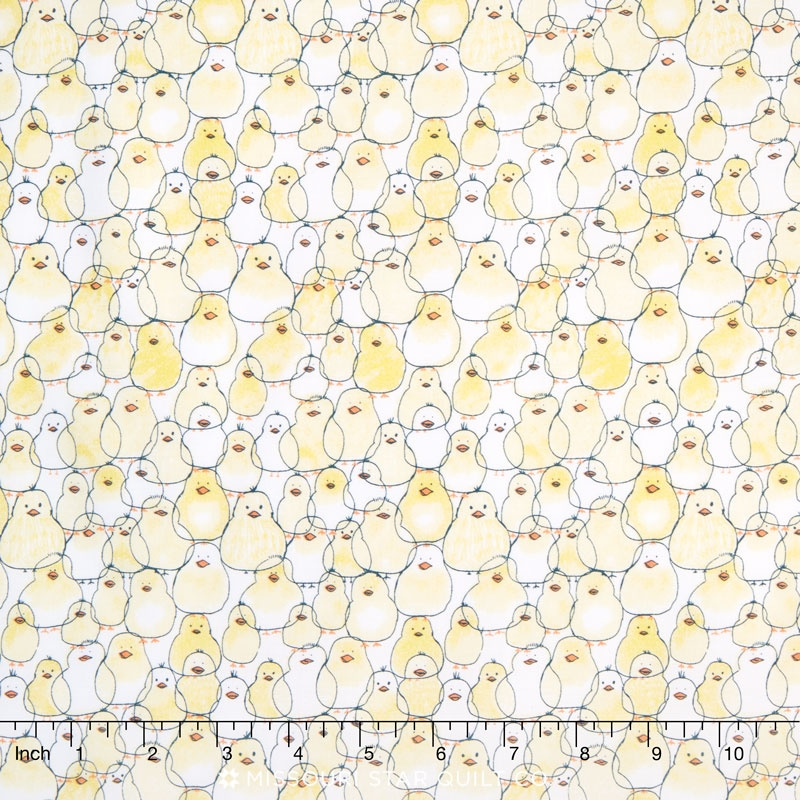 Babes in Farmland - Chicks Yellow Yardage
