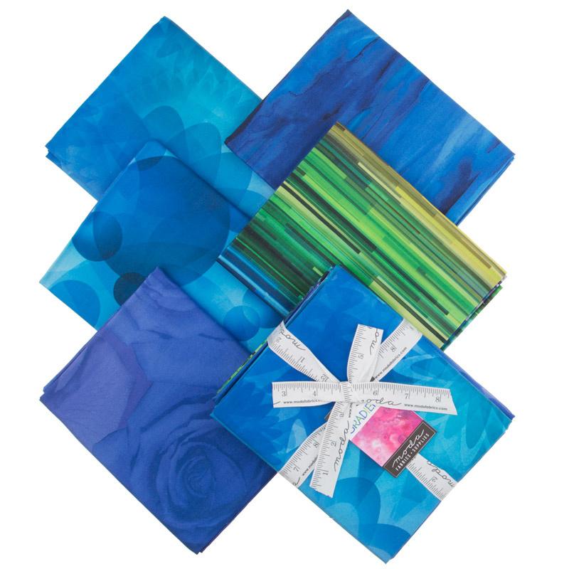 Gradients - Blue Digitally Printed One Yard Bundle