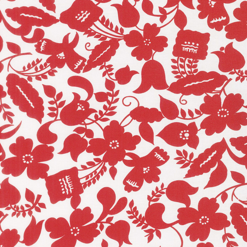Feed Sacks: Red Rover - Ruby Botanica Ruby Yardage