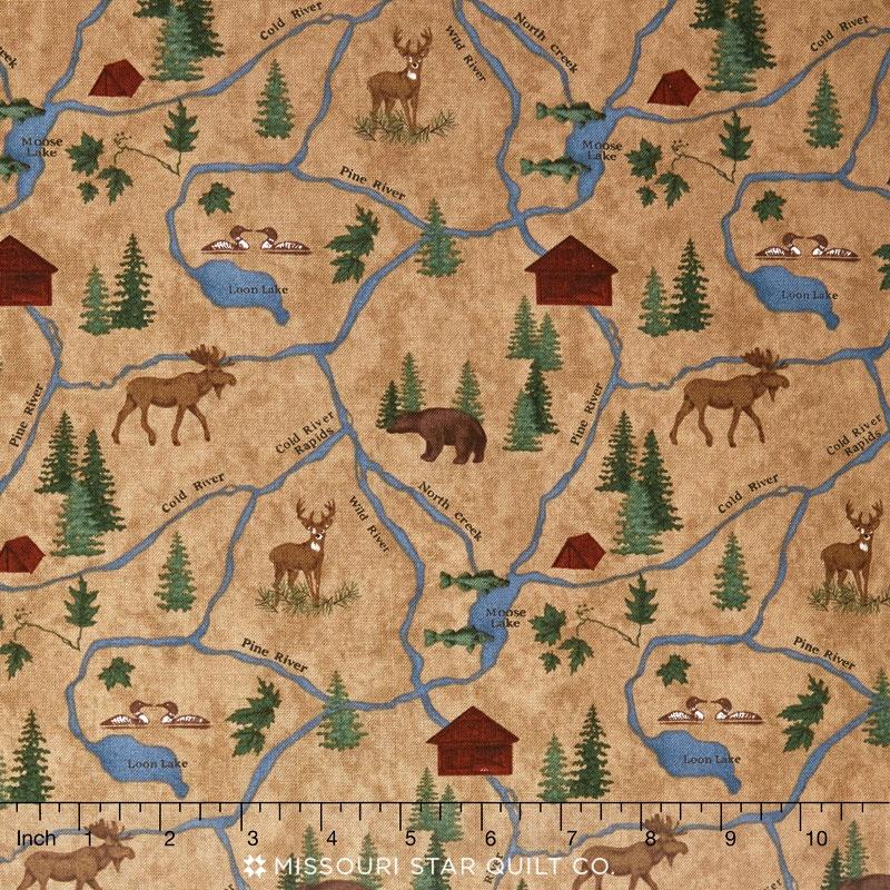 River Journey - Map Buckskin Yardage