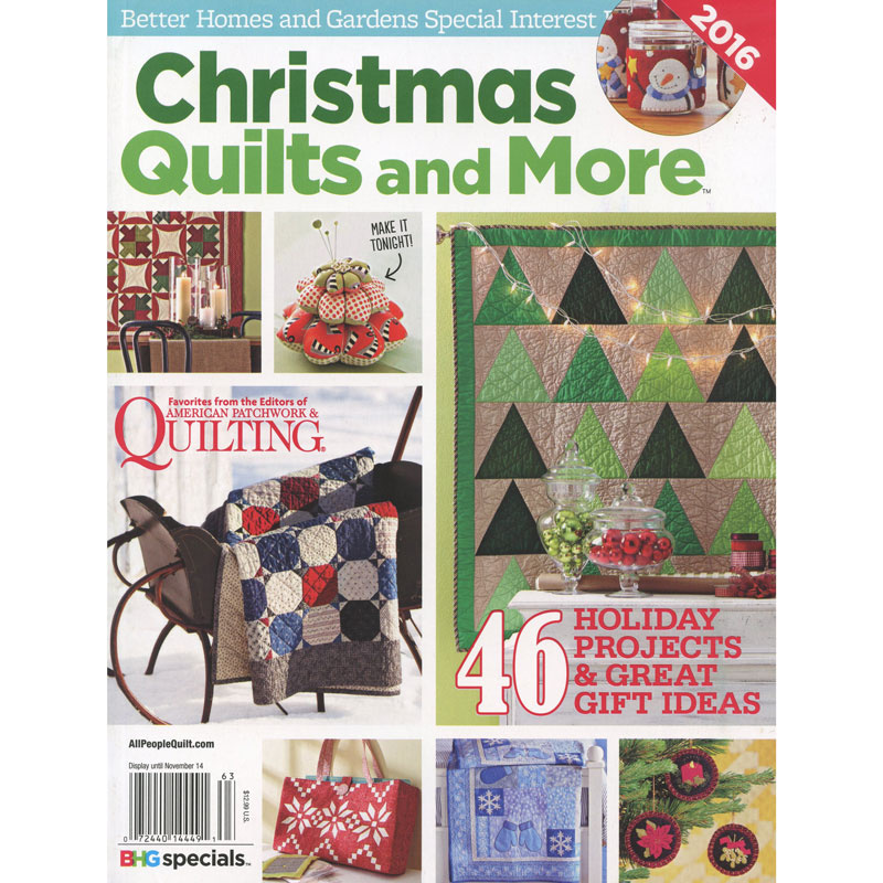 Better Homes and Gardens Christmas Quilts and More 2016 - Meredith ... : bhg quilts - Adamdwight.com