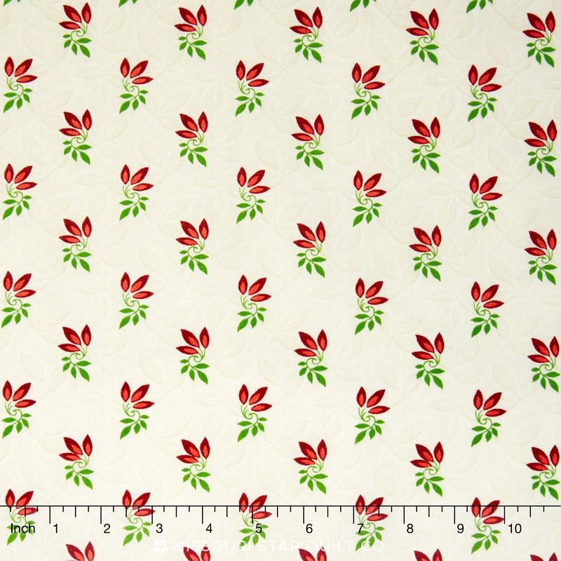 Songbird Christmas - Sprigs Natural Yardage