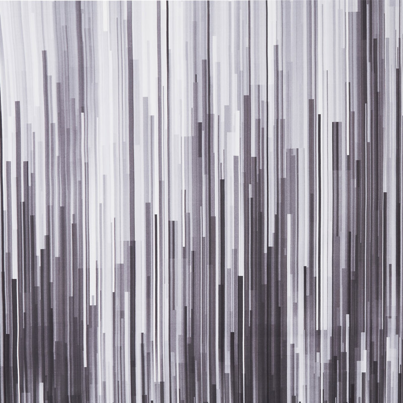 Gradients 2 - Onyx Fragmented Stripe Digitally Printed Yardage