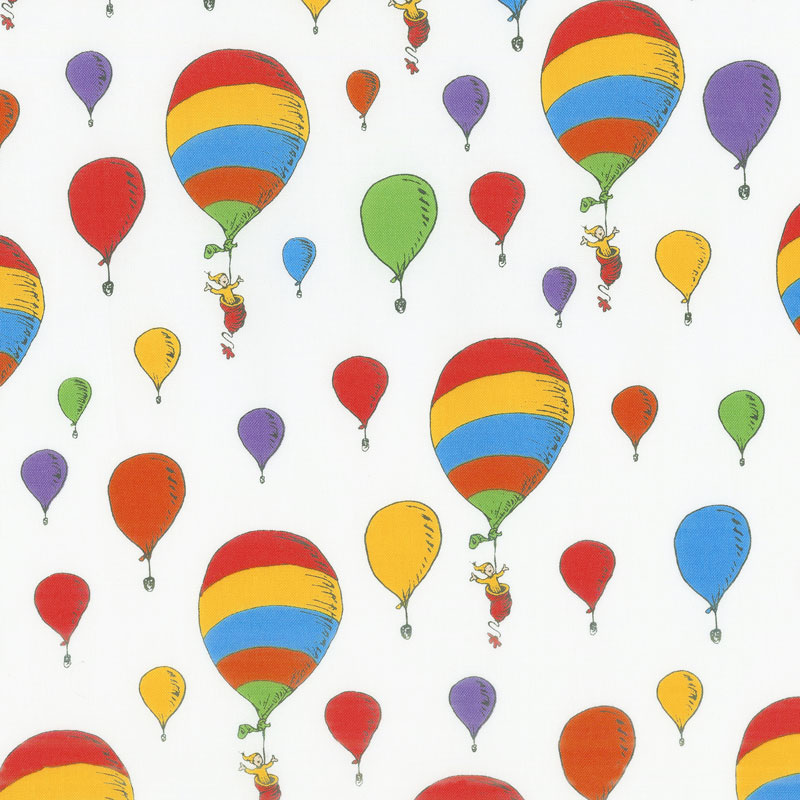 Oh the Places You'll Go - Balloons Bright Yardage