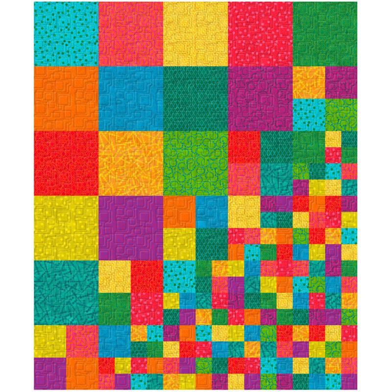 Twist & Shout Squares & Patches Quilt Kwik Kit