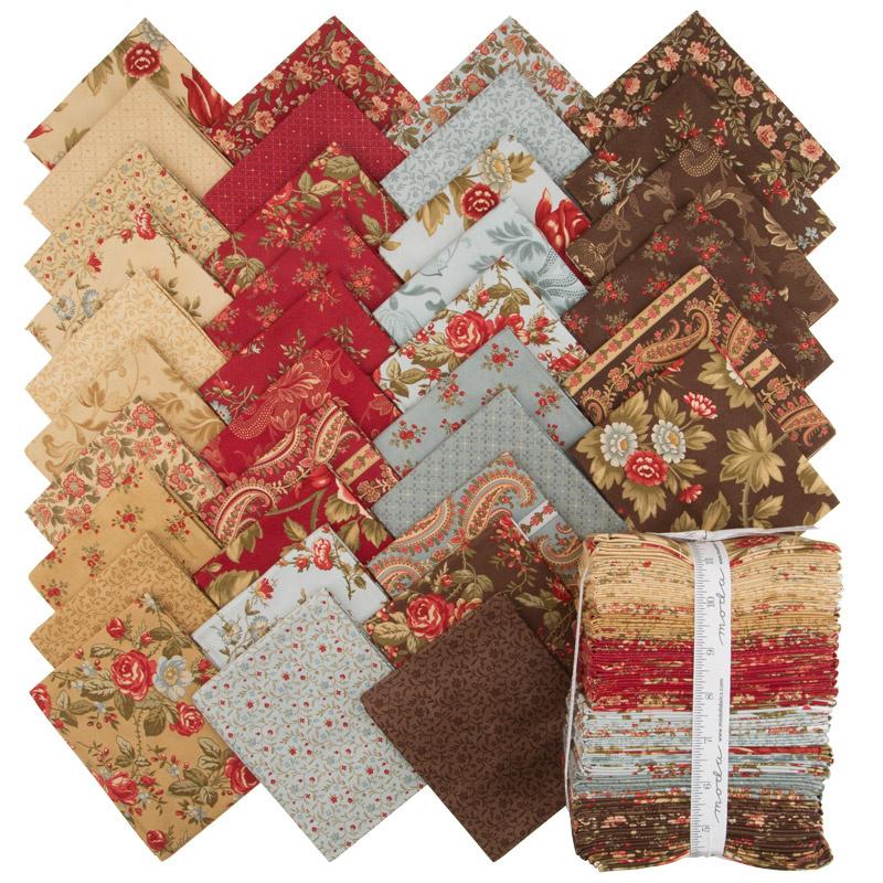 Rosewood Fat Quarter Bundle 3 Sisters Moda Fabrics