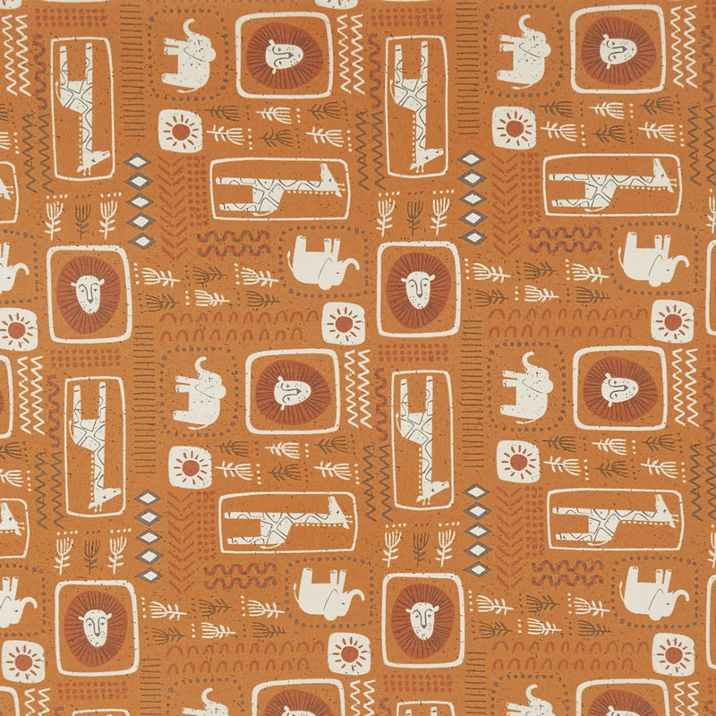 Safari Life - African Black Print Amber Yardage