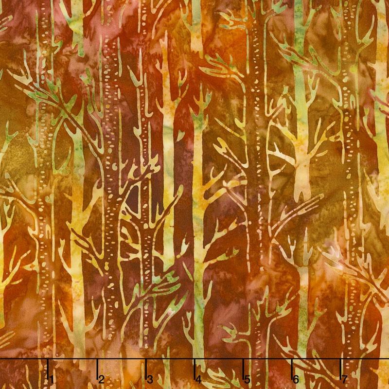 Artisan Batiks - Cornucopia 8 Tree Trunks Autumn Yardage
