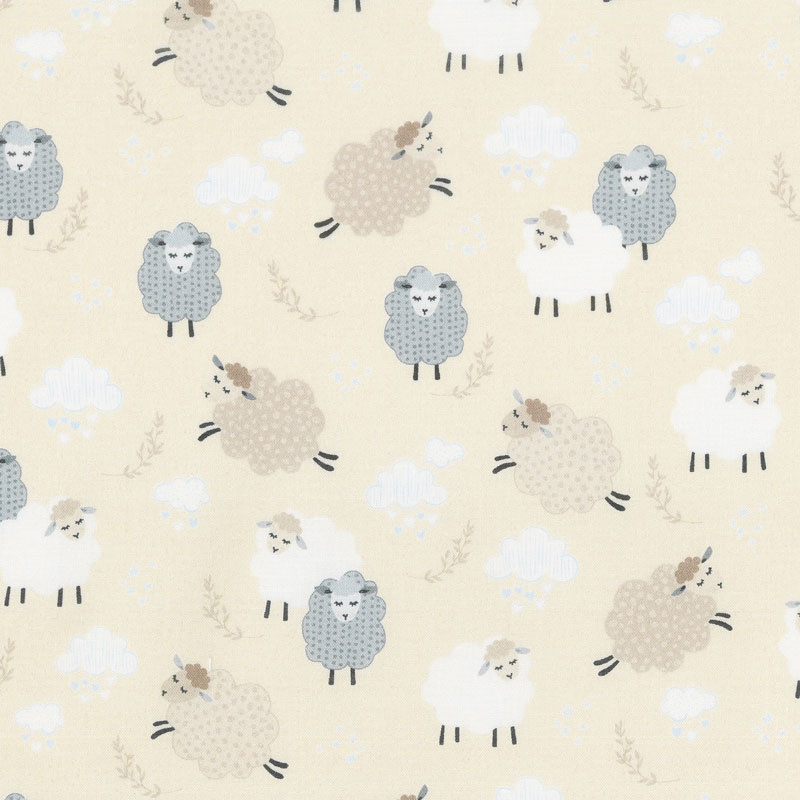 Sweet Dreams - Dreamy Sheep Buttercream Yardage