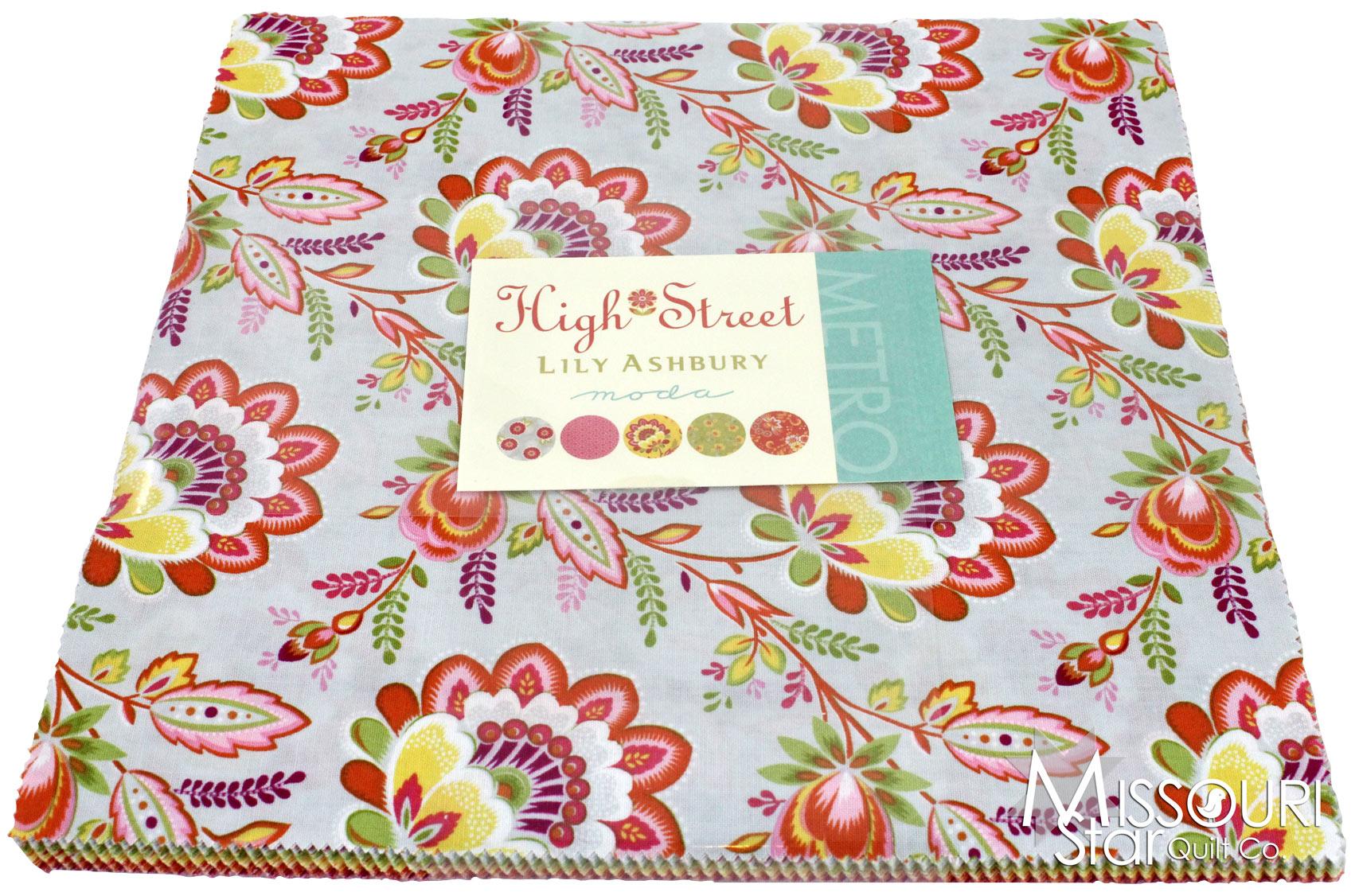 High Street Layer Cake Lily Ashbury Moda Fabrics