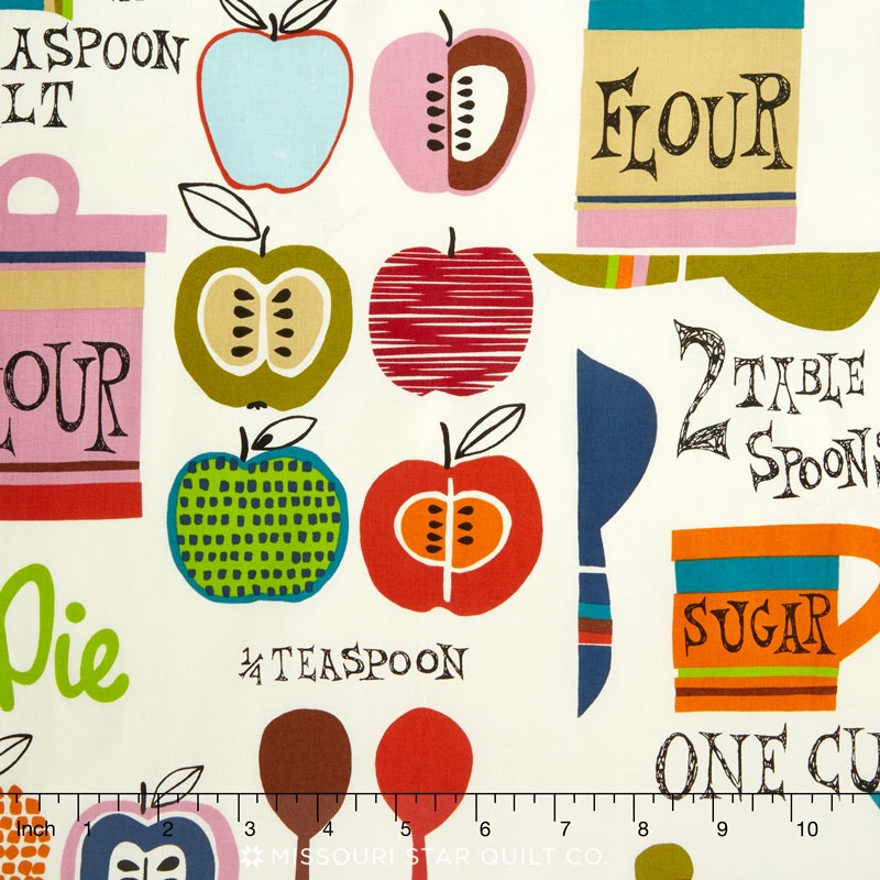 In the Kitchen - Oh My Apple Pie Natural Bright Yardage