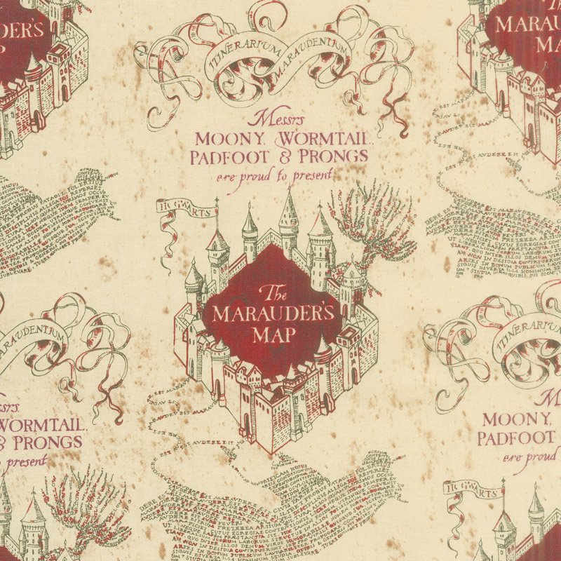 Wizarding World - Harry Potter Marauders Map Yardage - Camelot ...