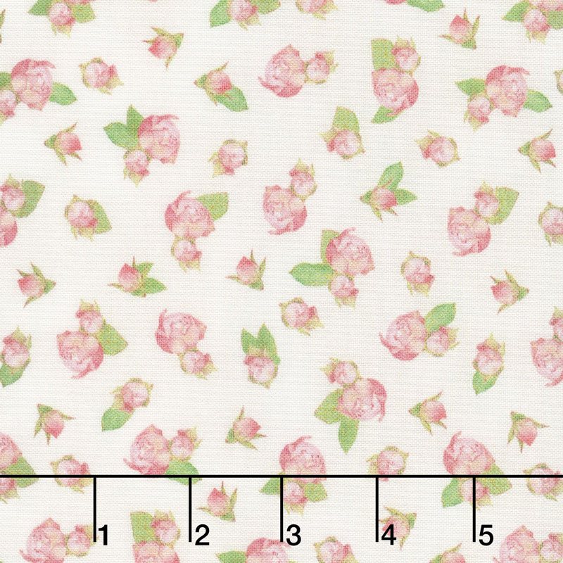 Farmhouse Rose - Roses Ivory Yardage