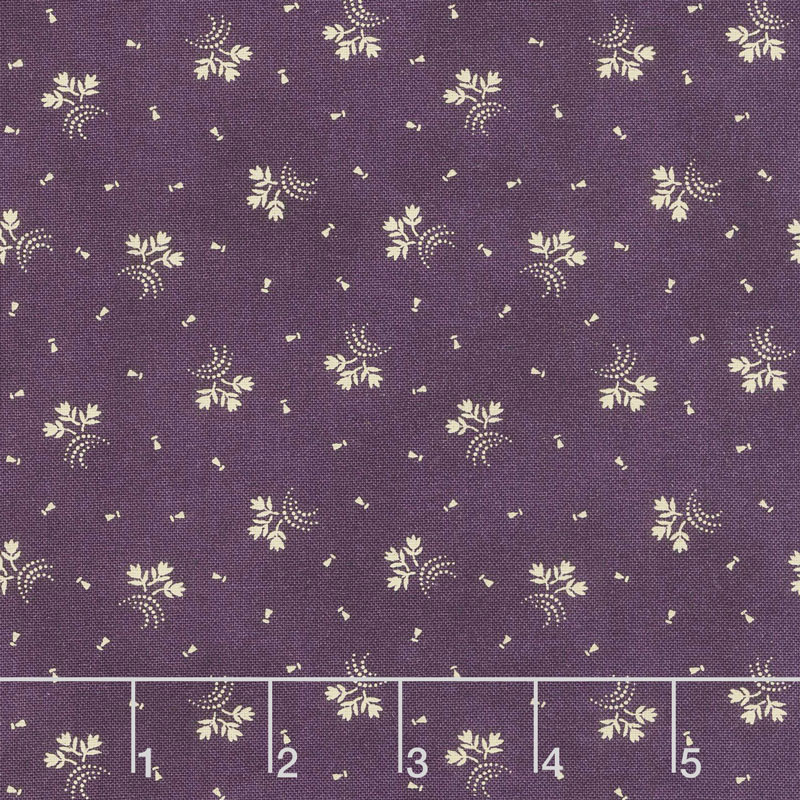 Clover Meadow - Flower Trio Purple Yardage