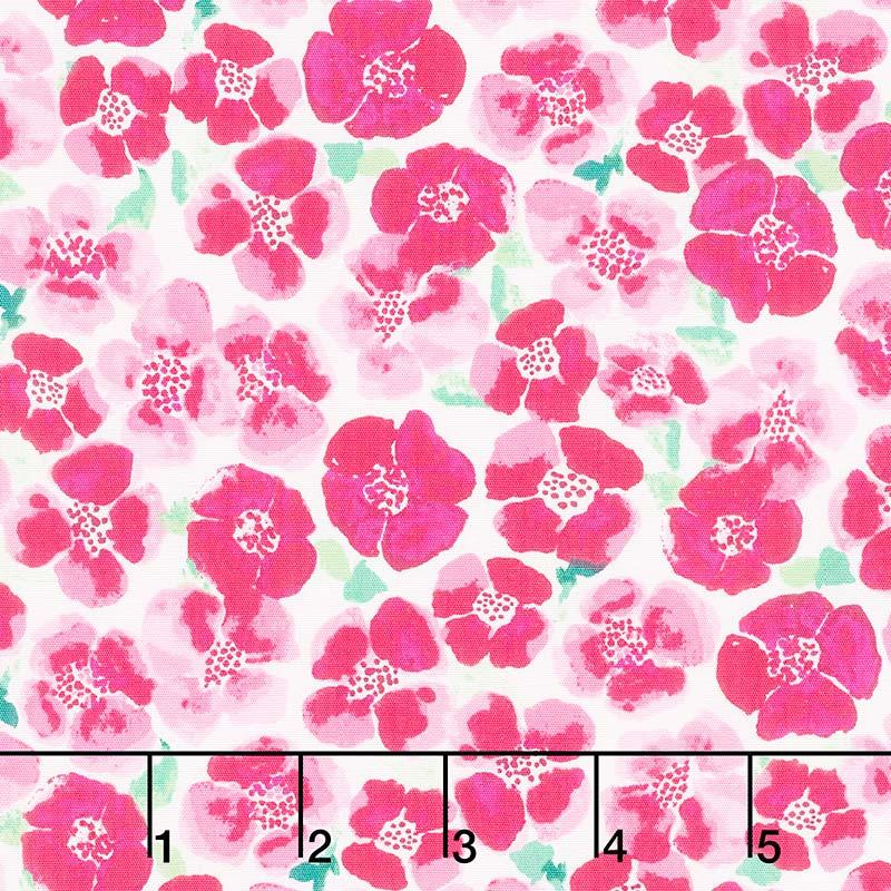 Floralish - Blooms Field Fresh Pink Yardage