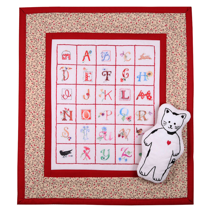 Alphabet Doll Quilt and Kitty Jack Kit
