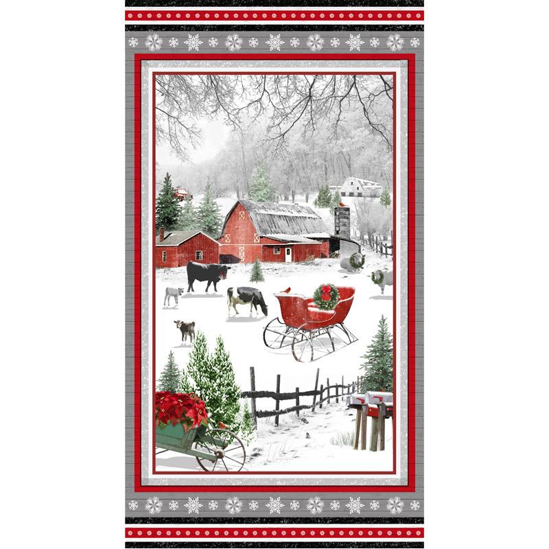 Holiday Homestead - Snow Farm Panel