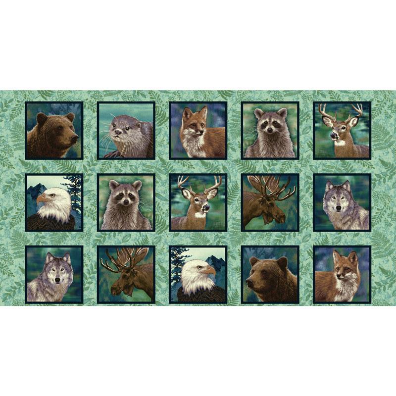 Woodland Wonders - Animal Blocks Spruce Panel