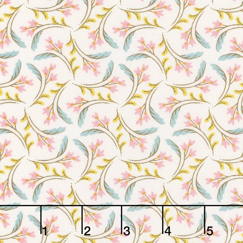 Nova - Have Hope Bleached Linen Pinwheel Pink Yardage
