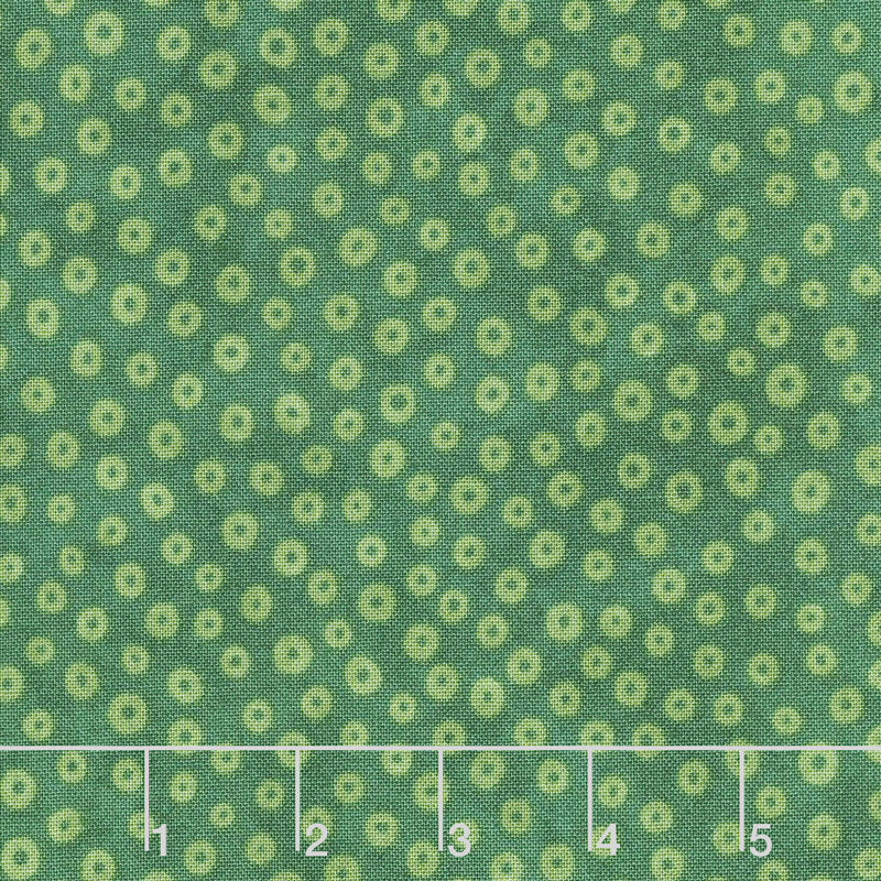 X's and O's - Rainforest Little Cheerios Green Yardage
