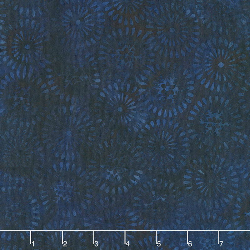 Winter Frost Batiks - Nordic Snowflake Storm Yardage