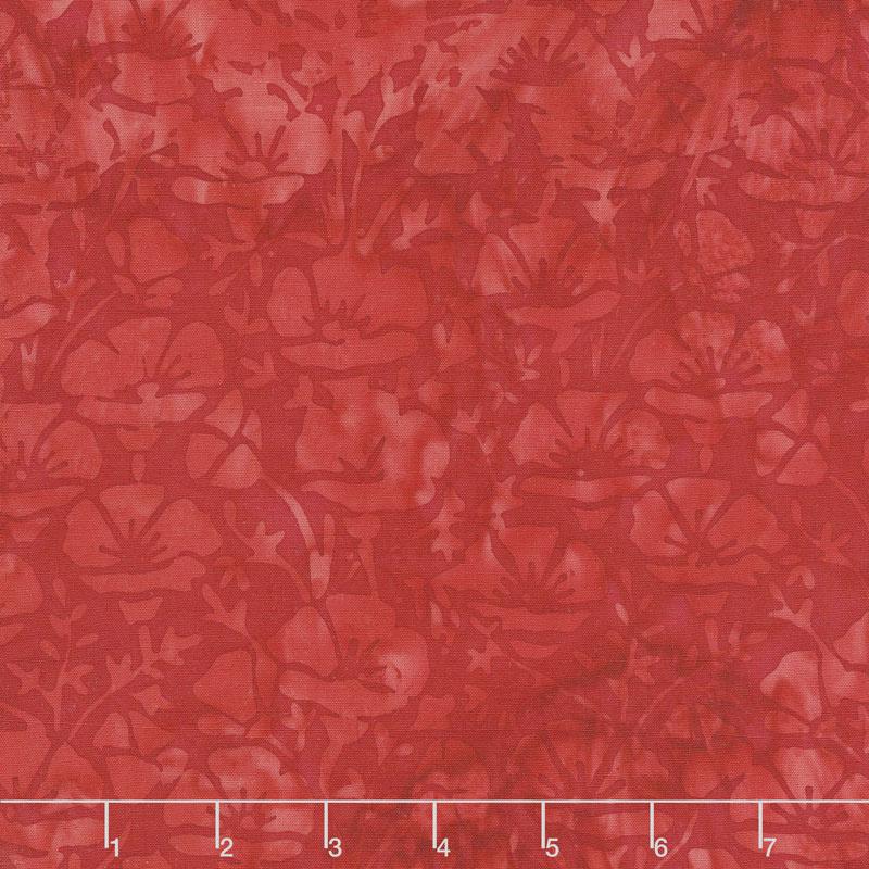 Freedom Batiks - Poppy Red Yardage