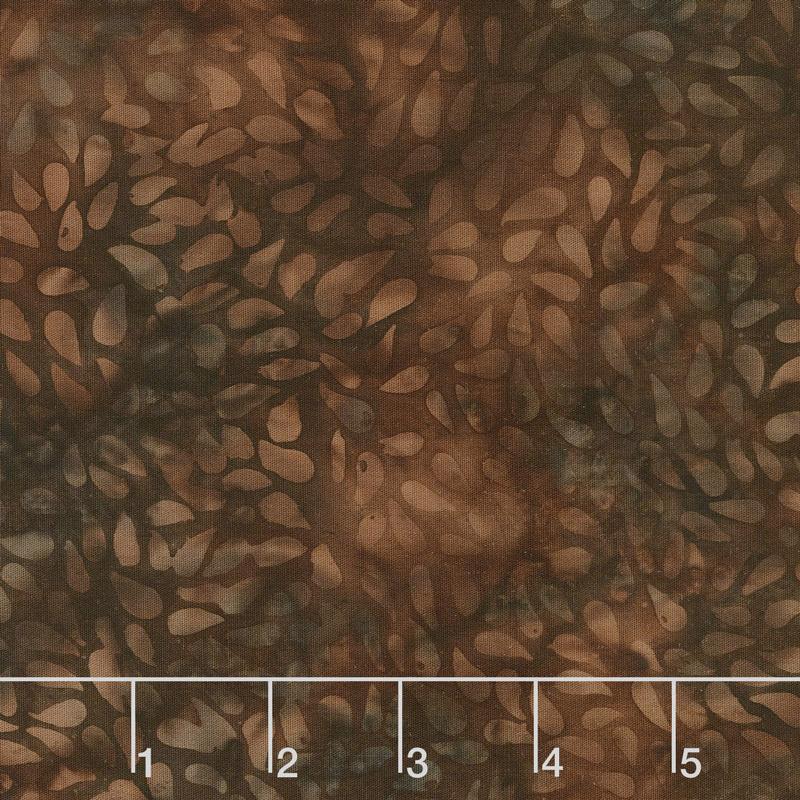 Autumn Harvest Batiks - Tossed Seeds Mink Yardage