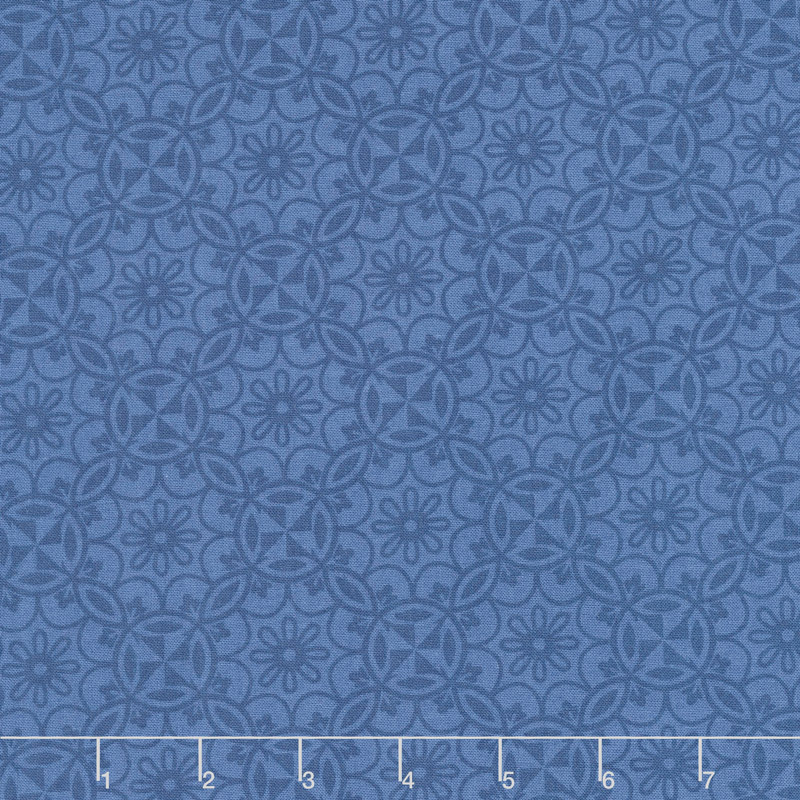 Home Grown - Medallion Navy Yardage