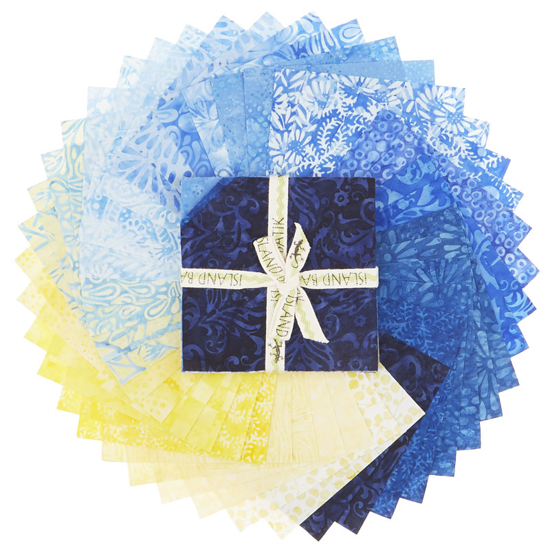 French Blue Batiks Stamps