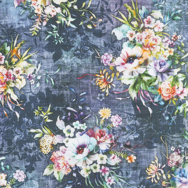 Fleur Couture - Boutique Blooms Vintage Digitally Printed Yardage